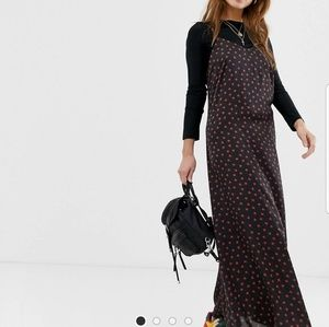 ASOS ladybird printed Satin slipdress